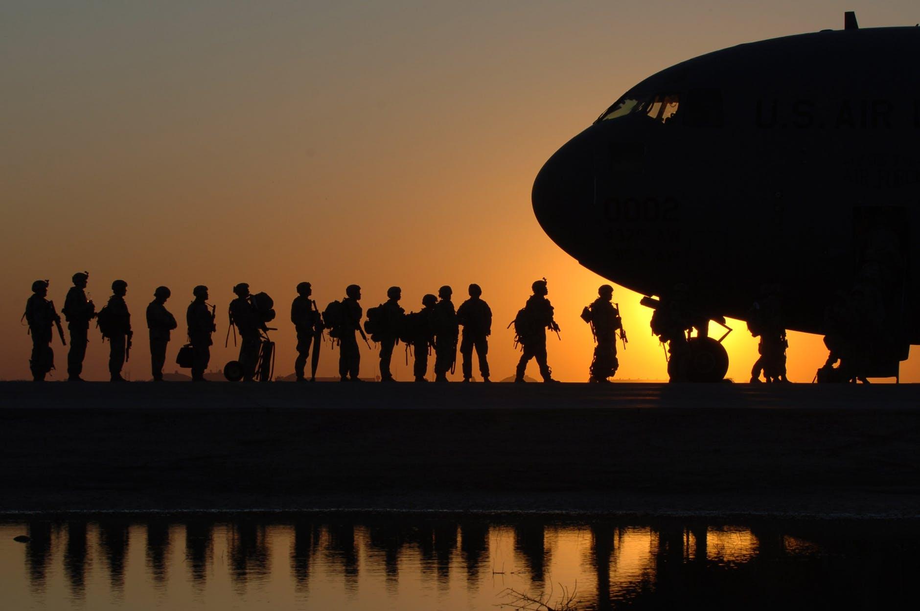 Veterans returning home